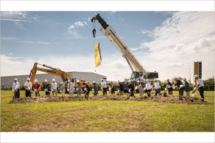 Members of the Liebherr family, Executive Management of Liebherr USA, Co. and Newport News city officials broke ground during the ceremony.