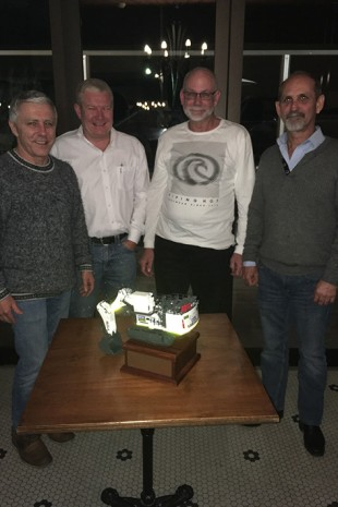Dave Barber (BGC), Mick Renshaw (MLR Group), Wayne Willis (Liebherr-Australia) and Les Reid (BGC).