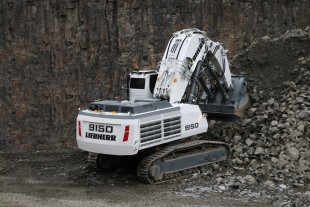 The new mining excavator Liebherr R 9150 B is equipped with the long-lasting and proven Liebherr V12 diesel engine and as an option is available with electric drive as well.