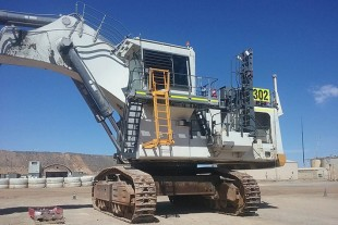 The R 994B undergoing maintenance upgrades at Cowal Gold Operations.