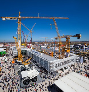 Liebherr booth at the international tradeshow Bauma 2013 in Munich (Germany)