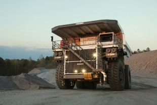 The T 264 mining truck by Liebherr