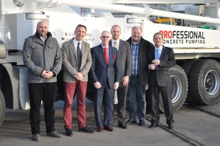 From left to right: Tobias Waitzinger (Liebherr), Mark Figel (Liebherr), Peter Liddle (PCP), Adam Dembny (Liebherr), Franz Waitzinger (Liebherr), Bill LIoyd (PCP).