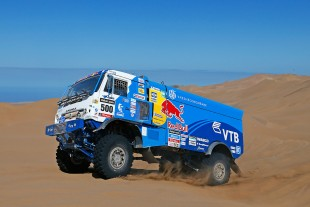 The Kamaz truck No. 500 with Liebherr engine gained the third place at the Dakar 2014 rally.
