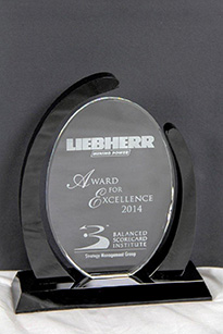Le prix « Award for Excellence 2014 » du Balanced Scorecard Institute