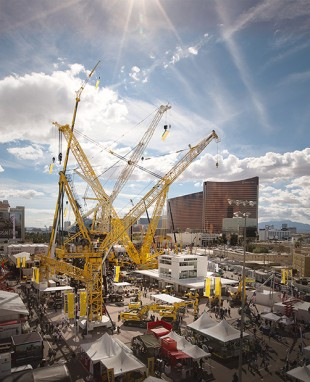 Liebherr stand at the 2014 Conexpo in Las Vegas, NV / USA