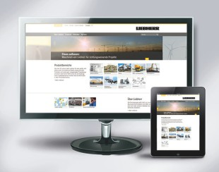 From Juli 2014, the new liebherr.com umbrella brand portal offers additional content and a modernized web design for mobile end devices, too.