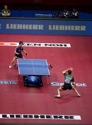 Liebherr sponsored the World Table Tennis Championships 2014