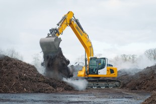 The new Liebherr crawler excavator R 926 with an operating weight of 26 tonnes