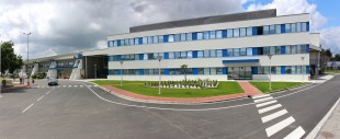 Panoramic view of the new logistics building of Liebherr-Aerospace Toulouse SAS