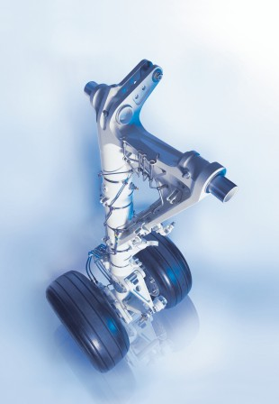 E-Jet main landing gear – developed, manufactured and serviced by Liebherr-Aerospace