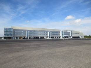 The new logistics centre for Liebherr earthmoving machines in Oberopfingen by Kirchdorf an der Iller (Germany)