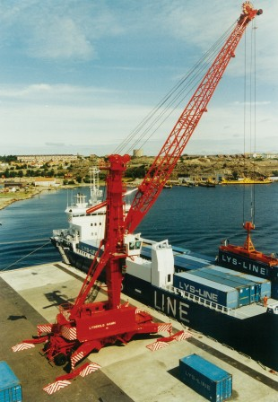 Shortly after market entry in 1974, Liebherr delivered its mobile harbour cranes across the globe.