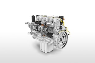Liebherr D936-A7 diesel engine with proprietary common rail injection system and engine control unit