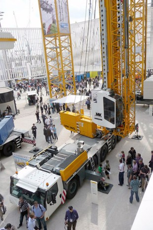 The mobile construction crane MK 140 has been launched at Bauma 2013 in Munich, Germany.