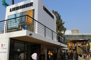 The Liebherr Booth at Expomin 2014 in Santiago, Chile
