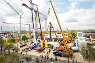 The Liebherr stand at the 2012 Intermat in Paris, France