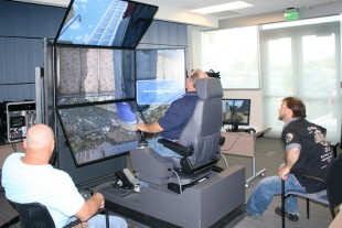 Training on the Liebherr simulator