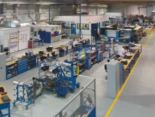 Landing gear maintenance, repair and overhaul shop at Liebherr Aerospace Saline, Inc., Michigan (USA)