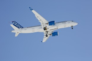 Liebherr supplies the air management system and the landing gear system for the Bombardier CS300 aircraft.