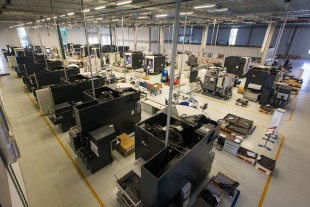 Production area of Liebherr Aerospace Brasil Ltda. in Guaratinguetá