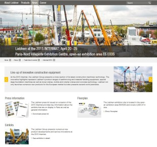 New website informs about Liebherr activities at the 2015 Intermat