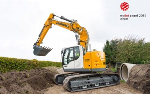 Liebherr R 926 Compact crawler excavator distinguished with Red Dot Award: Product Design 2015