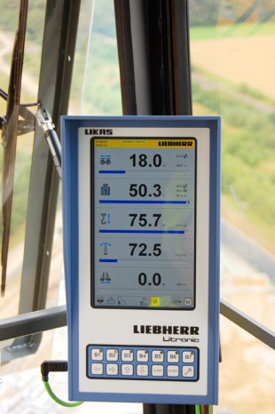 The new Litronic controller for Liebherr tower cranes can be adjusted individually to the needs of various uses.