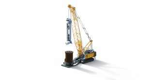 Liebherr duty cycle crawler crane HS 8130 HD with casing oscillator