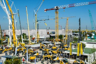 Liebherr at the 2015 Intermat in Paris, France