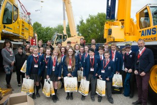 At 'My Future My Choice', Liebherr hosted two groups of students aged 9-14 from St Helens and Liverpool.