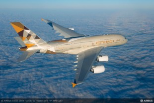 Airbus A380 operated by Etihad Airways - ©Airbus