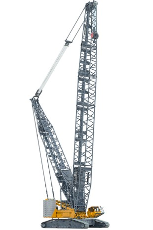 The new Liebherr LR 1500 crawler crane delivers the load capacity of a 500-tonne model with the dimensions and weights of a 400-tonne crane