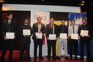 At the German Chilean Chamber of Commerce and Industry Awards seven young men received their certificates in technical and mechanical training from Liebherr Chile SpA.