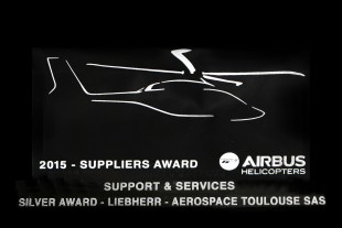 Airbus Helicopters 2015 suppliers prize awarded to Liebherr.