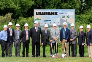 Ground breaking ceremony at Liebherr-Aerospace in Saline, Michigan (USA)