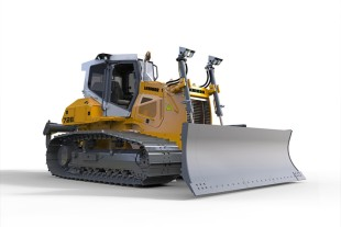 The design of the new Liebherr PR 726 crawler tractor offers outstanding visibility from all sides.