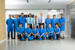 Liebherr-Aerospace Singapore shop team