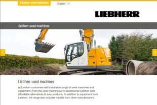 New website for used Liebherr earthmoving machines