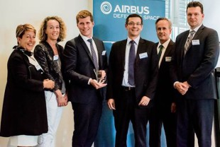 "Team members at Liebherr-Aerospace Toulouse SAS are very happy about the ""Best Improver"" award."