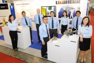 The Liebherr-Aerospace team at MRO Asia-Pacific