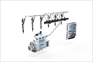 The new generation of Liebherr common rail system is available not only as a side feed but also as a top feed version.