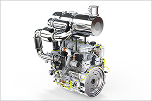 6-cylinder in-line engine from Liebherr with exhaust gas aftertreatment system SCRFilter