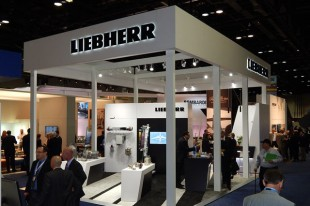 Stand of Liebherr at the NBAA Convention and Exhibition