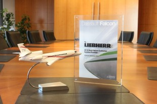 "Award of ""Best Falcon Customer Service Provider"" presented to Liebherr-Aerospace Toulouse SAS by Dassault in the fourth consecutive year"