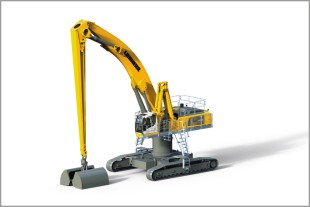 The new LH 110 C High Rise Port material handler from Liebherr is designed especially for requirements in port handling.