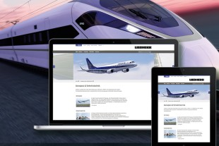 Product areas of Aerospace and Transportation systems with new design at liebherr.com.
