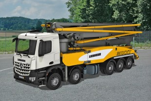 The new truck mounted concrete pump by Liebherr provides better cost efficiency and many innovations for increased customer benefits.
