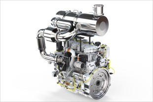 4-cylinder in-line engine by Liebherr with exhaust gas aftertreatment system SCRFilter