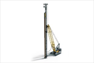 Rendering of the new Liebherr piling rig LRH 600 with new hydraulic free-fall hammer
